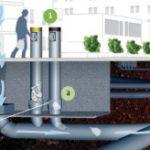 Collecte des déchets par aspiration pneumatique