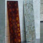 Rhus Project. panneaux associant le verre et la laque naturelle