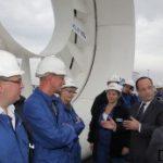 Le président de la république officialise le lancement de l'énergie Hydrolienne en France