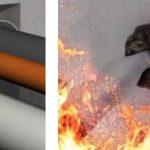 Ouest Isol, traversée de cloison pour la protection des tubes contre le feu, les fumées, les sons