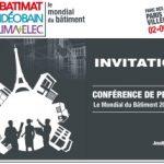 Les salons BATIMAT, INTERCLIMA+ELEC et IDEOBAIN unissent leurs forces pour organiser le 1er mondial du bâtiment