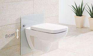 WC adapté, hauteur réglable