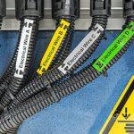 Étiquette non adhésive pour câbles en extérieur