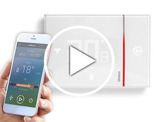 Thermostat connecté avec Wi-Fi intégré