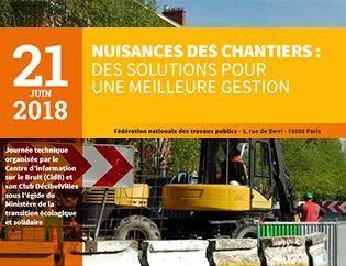 Journée technique : nuisances des chantiers