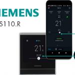 SIEMENS – Thermostat d'ambiance intelligent sans fil RDS110.R