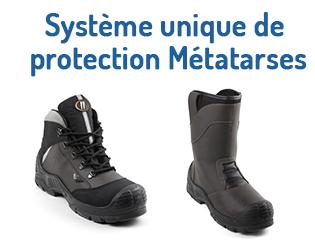 GASTON MILLE – Système de protection Métatarses pour chaussures de sécurité