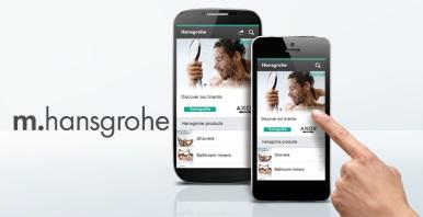 hansgrohe mobile website smartphones